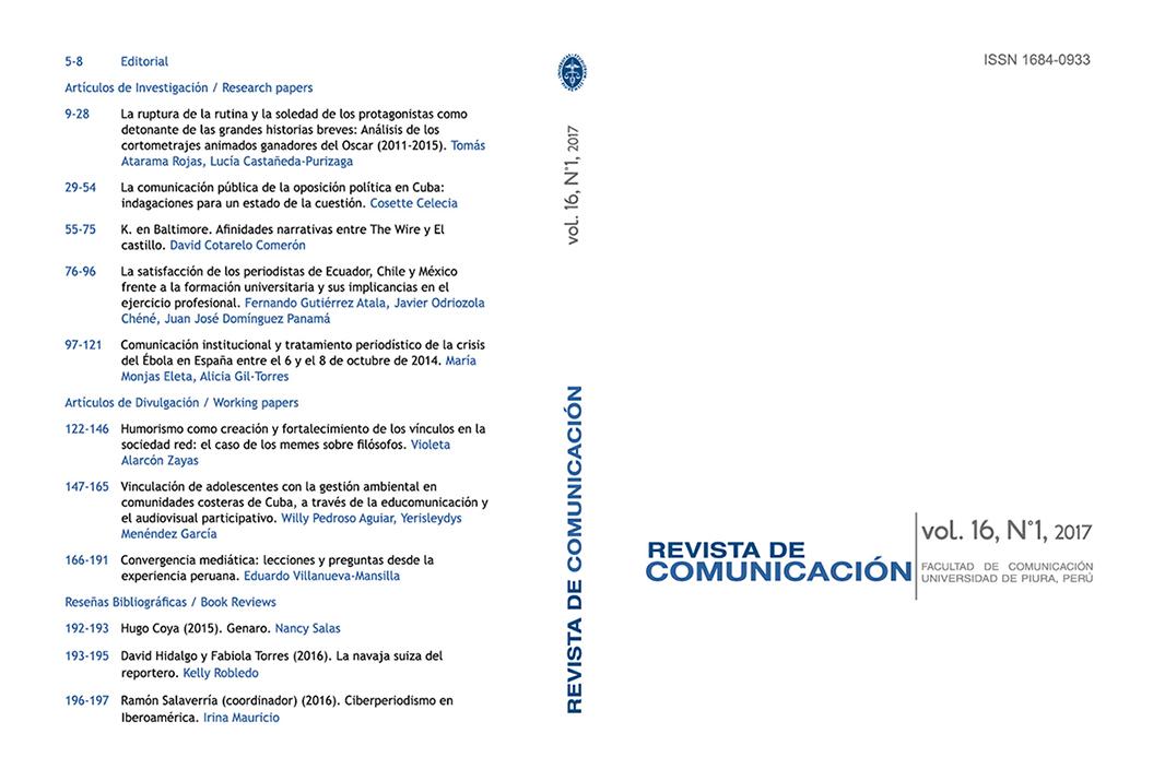 Revista de Comunicación | Facultad de Comunicación